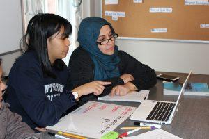Adult Education student tutoring session