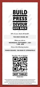 Gray House digital flyer